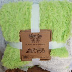 Manta Sherpa Pistacho