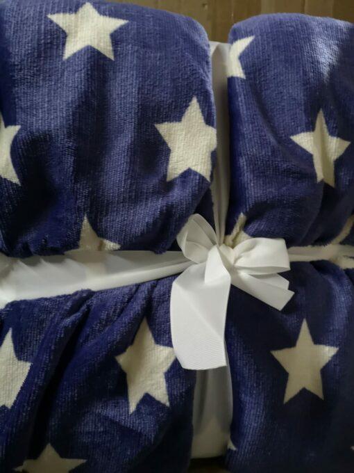 Manta Sedalina Sherpa Estrellas Azul