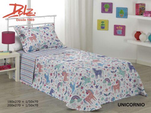 Colcha Bouti Infantil Unicornio