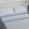 Juego Sábanas Burrito Blanco 489 Azul