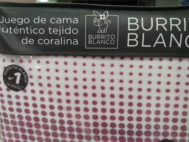 Sabanas Coralina Burrito Blanco 960 Granate