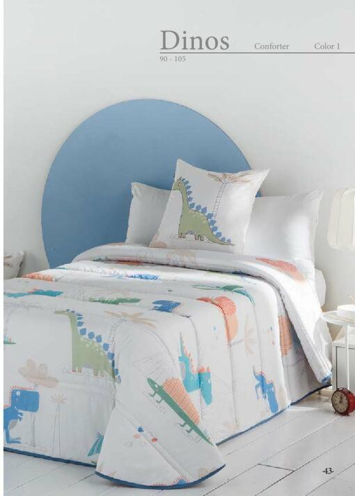 Edredón Conforter Infantil Dinos 1