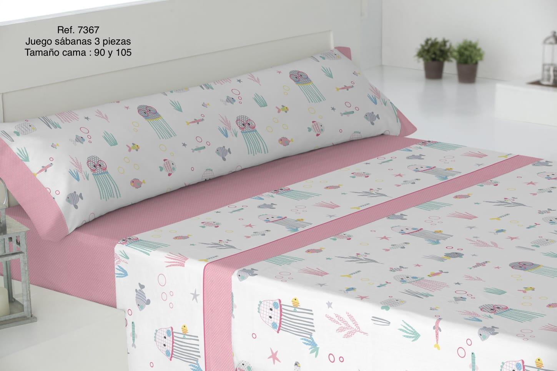 Sábanas Infantiles Ref: 7367 Rosa