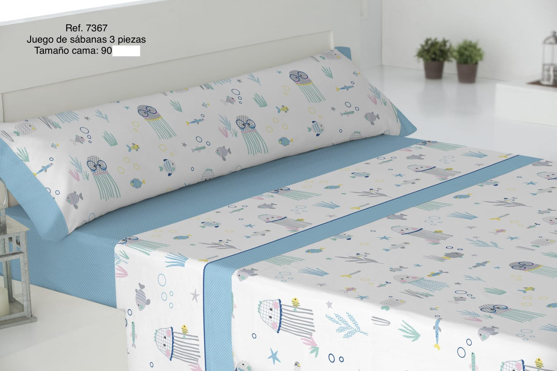 Sábanas Infantiles Ref: 7367 Azul