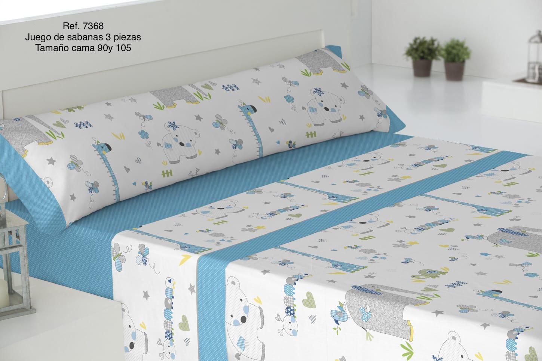 Sábanas Infantiles Ref: 7368 Azul
