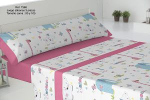 Sábanas Infantiles Ref: 7368 Rosa