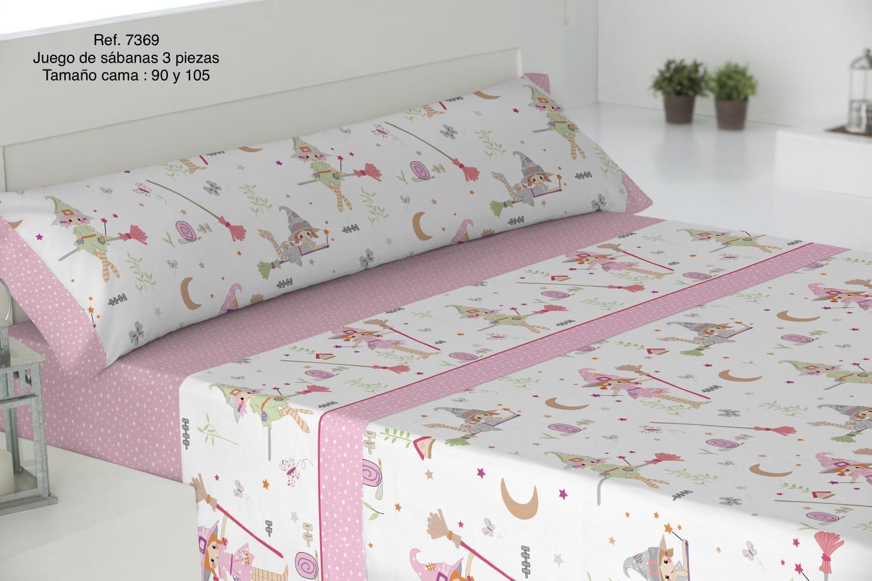 Sábanas Infantiles Ref: 7369 Rosa