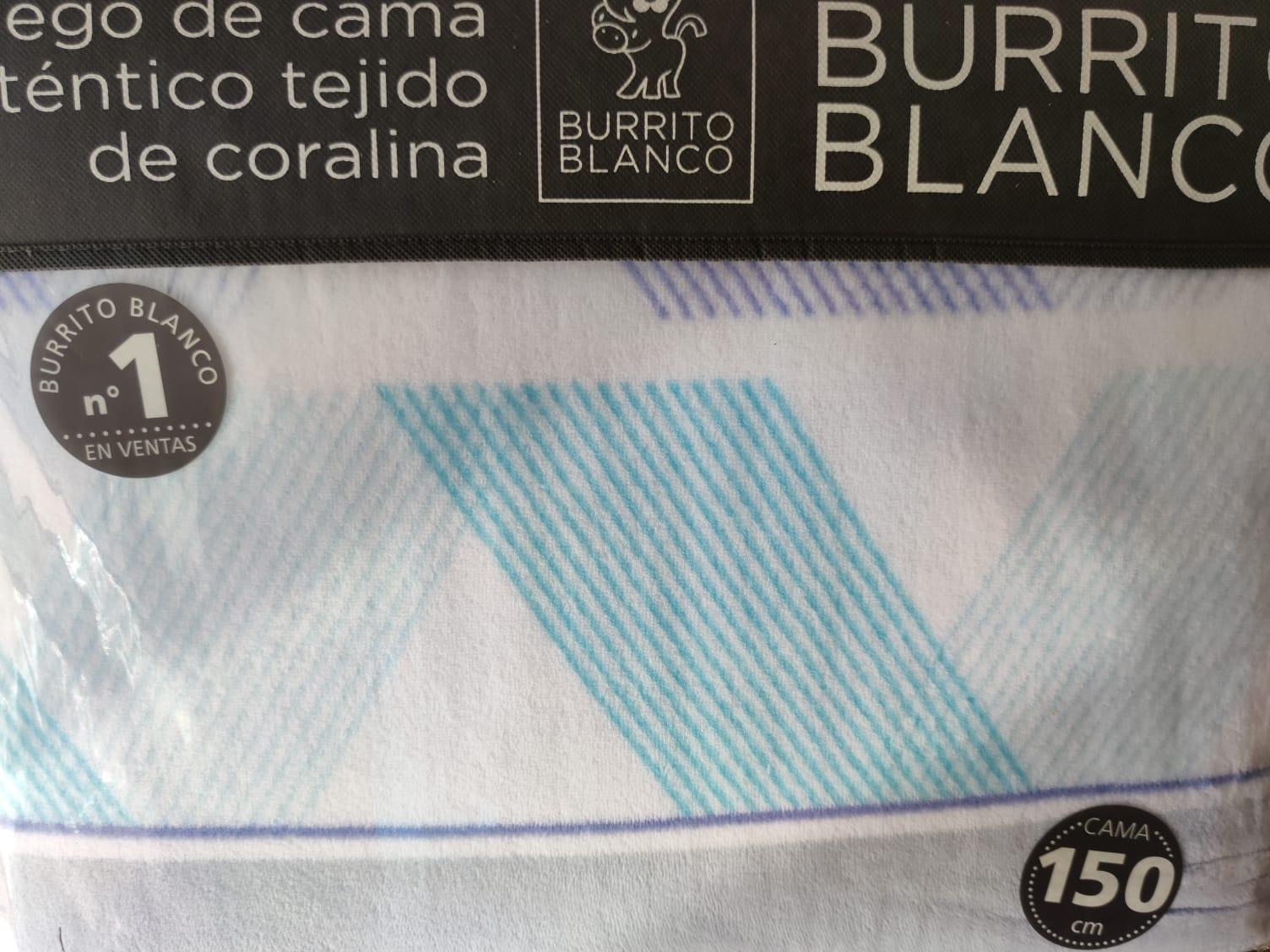 Sabanas Coralina Burrito Blanco Azul