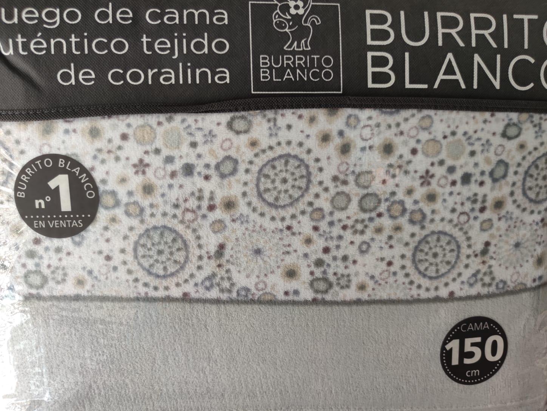 Sabanas Coralina Burrito Blanco 957 Gris