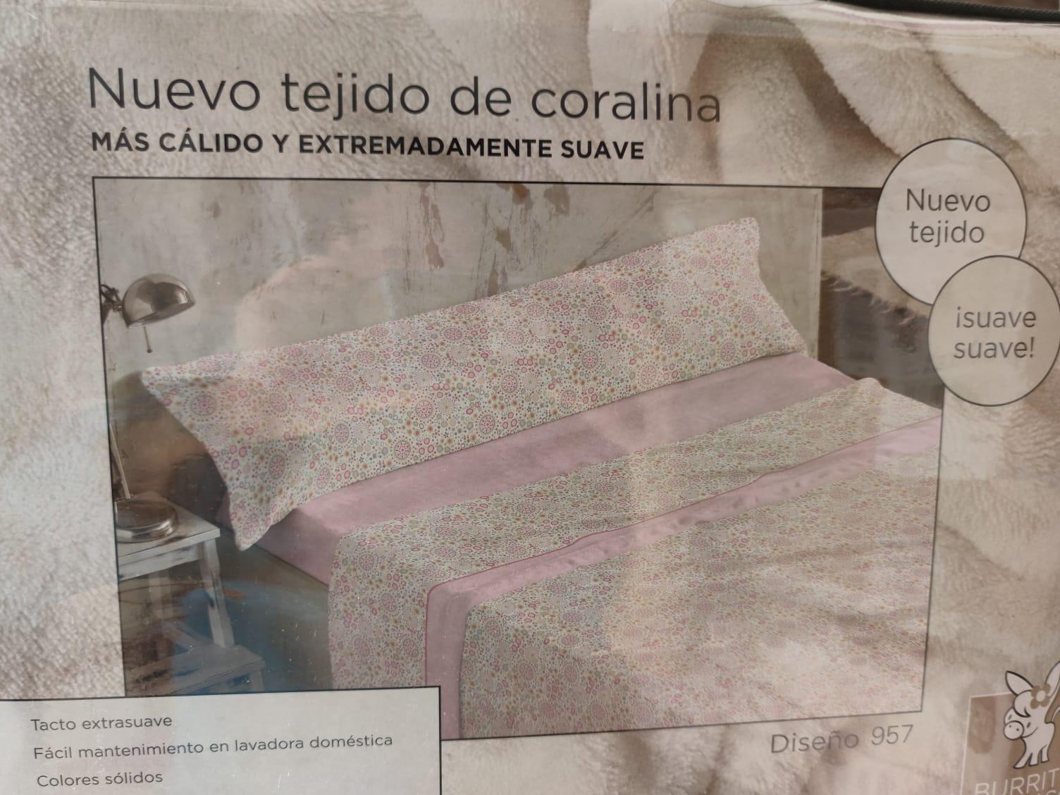 Sabanas Coralina Burrito Blanco 957 Rosa