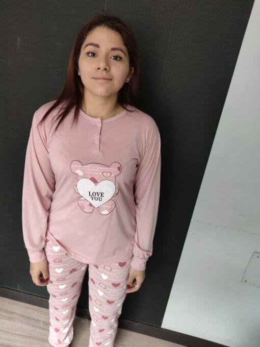 Pijama Mujer Love Rosa