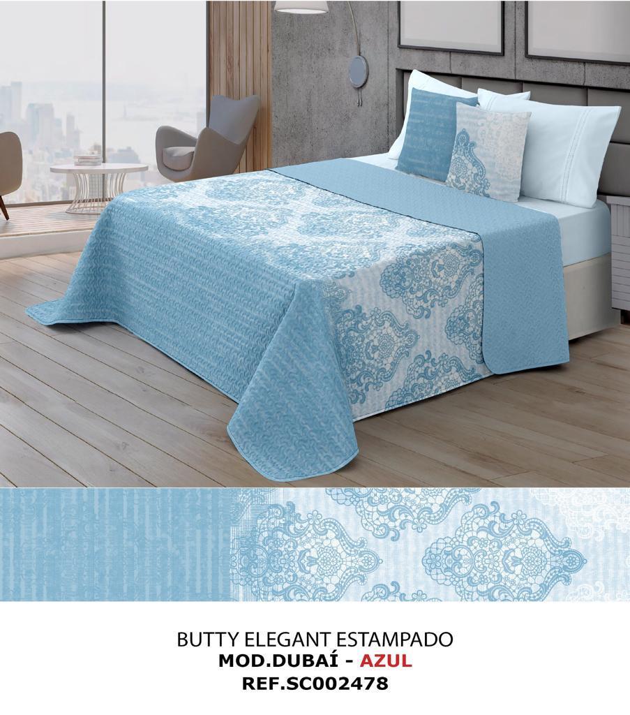Colcha Bouti Dubai Azul