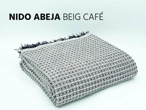 Foulard Multiusos Nido Abeja Beige-Café