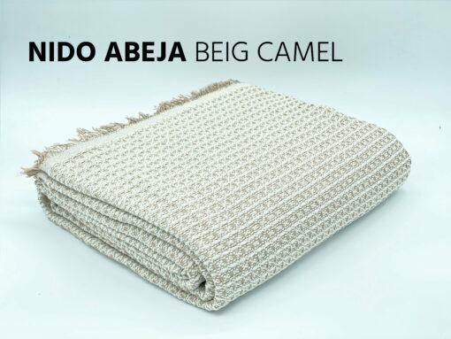 Foulard Multiusos Nido Abeja Beige-Camel