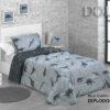 Colcha Bouti Confort Reversible Diplodocus