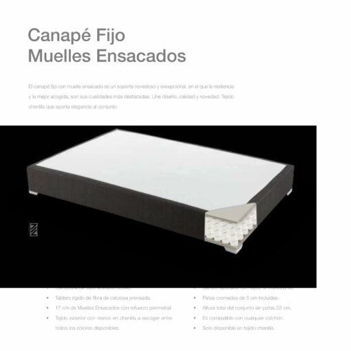 Canapé Fijo Muelles Comotex