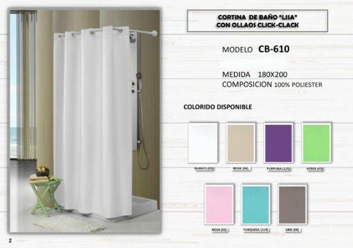 Cortina de Baño Lisa Colores