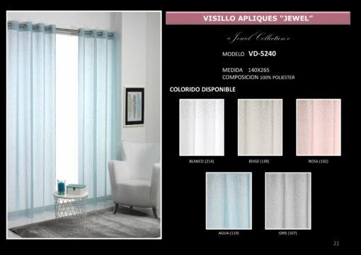 Visillo Apliques Jewel