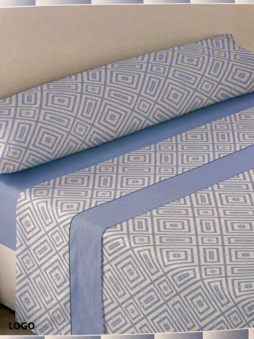 Juego Sábanas Pirineo Logo Azul