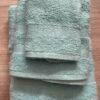 Juego Toallas 3 piezas Algodón Azul Claro
