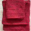 Juego Toallas 3 piezas Algodón Rojo