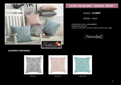 Cojín Jacquard Animal Print