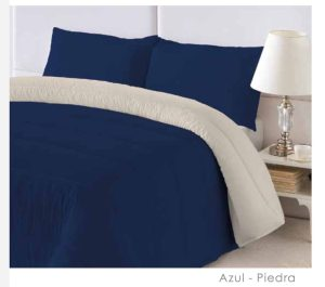 Edredon Nórdico Bicolor Azul-Piedra