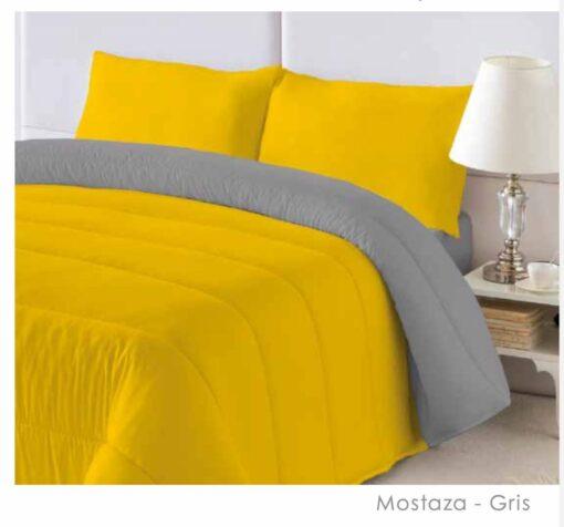 Edredon Nórdico Bicolor Mostaza-Gris