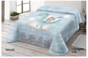 Manta Terciopelo Dragón Azul Miracle Home